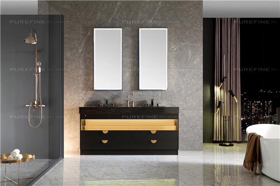 評測|普瑞凡眼界浴室柜,黑金撞色,輕奢氣度