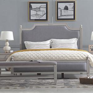 雷格西美式免洗科技布雙人床