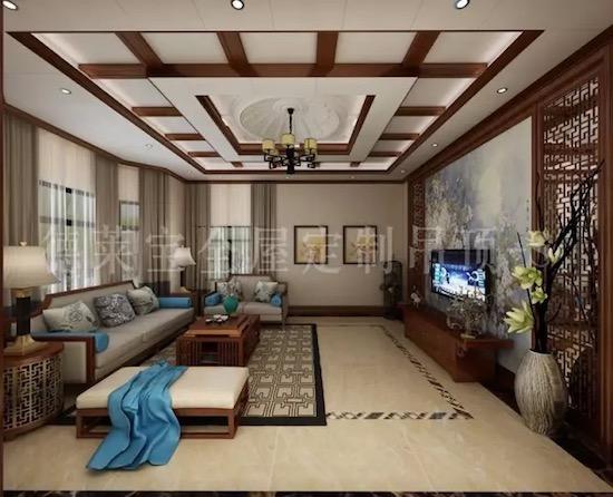 吊顶层,中式花窗,中式花格灯图片