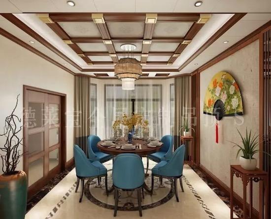 德莱宝新中式全屋吊顶装修案例,美艳到家!图片