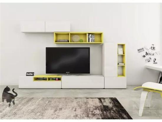 客厅电视柜的设计组合,省空间又a客厅!佰幍建筑设计图片