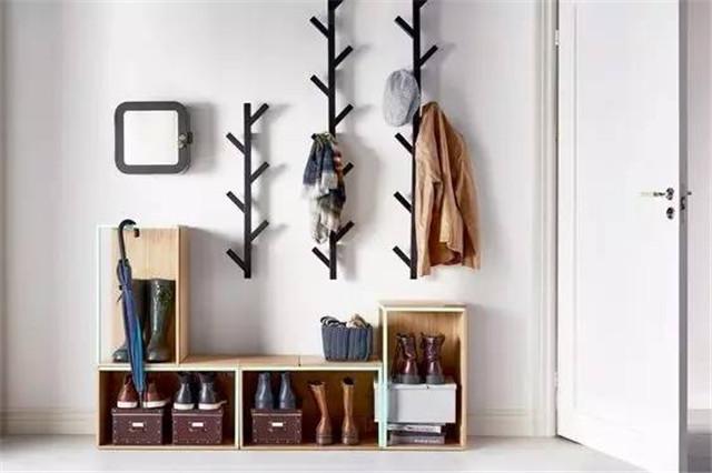 进门衣帽鞋柜-门厅柜鞋柜衣帽柜一体,进门鞋柜挂衣柜一体图,进门衣帽