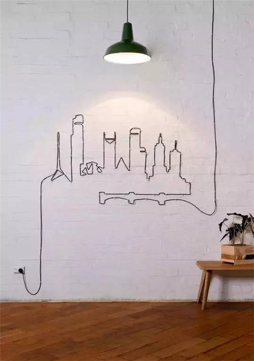当乱糟糟的电线变为家居艺术品 空间美感轻松升级