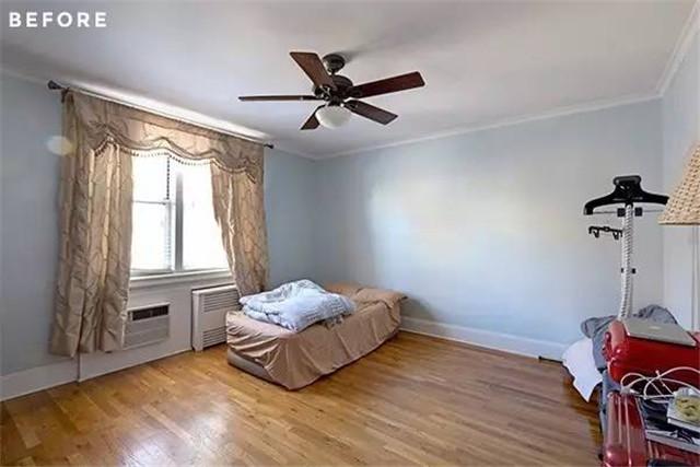 屋主使用成本低一些的石膏线墙面造型,打造他们喜欢的古典气质.图片