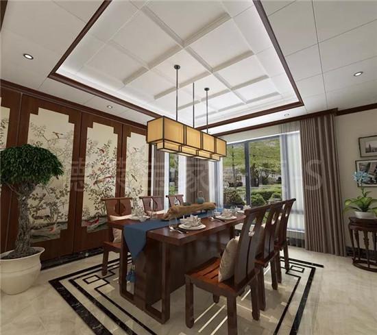 新中式餐厅吊顶图片