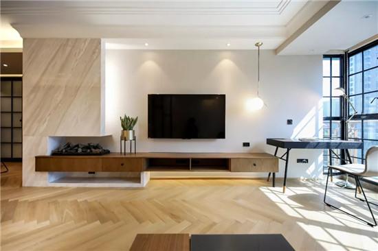 85㎡两居,一体式设计增加的收纳空间图片