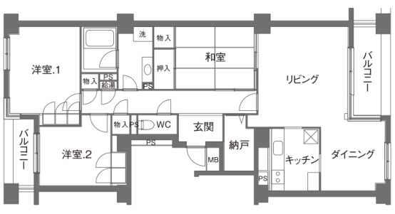 大平方房屋设计布局。