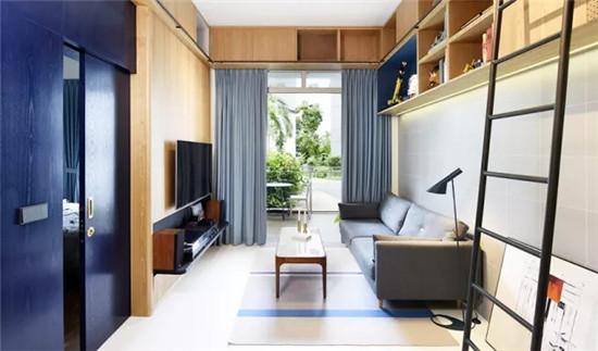用蓝色传递家间的优雅气息 彰显独特品味