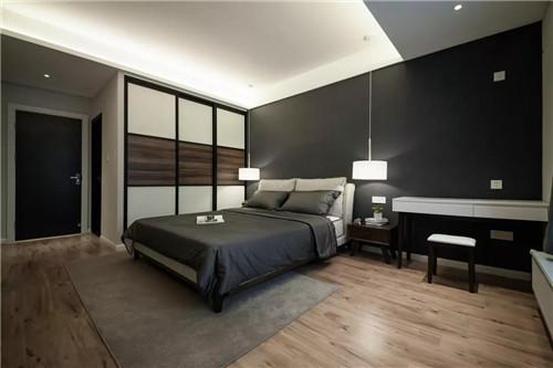 142㎡现代港式,餐厅与卧室的背景墙图片