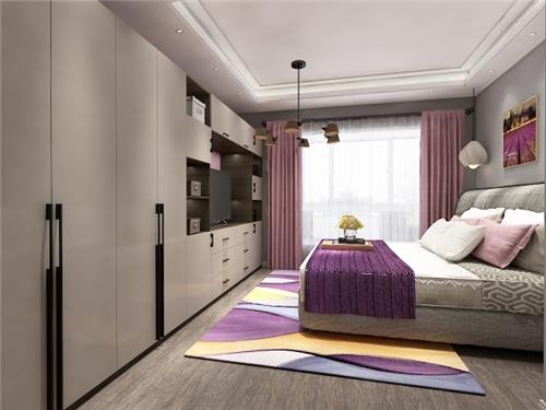 主卧的住宅电视和酒店的衣柜结合,让背景卧室比衣帽间还装.衣柜与整体建筑设计规范的区别图片