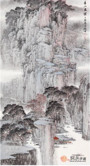 林德坤力作四尺竖幅山水画《春山晨染》【作品来源:易从网】图片