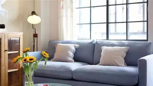 浅蓝色沙发,小清新北欧风轻轻吹.图片