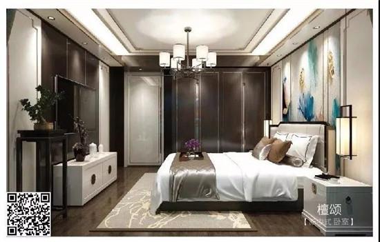 新中式卧室:檀颂图片