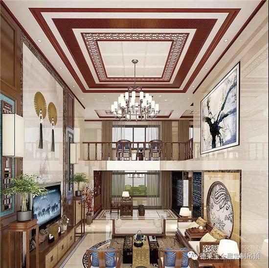 吊顶造型丰富,风格多样, 半吊,复式,多层复式;欧式,现代,新中式图片