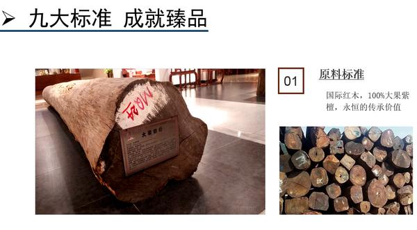 """中信红木""""前言""""九大工艺标准之原料标准"""