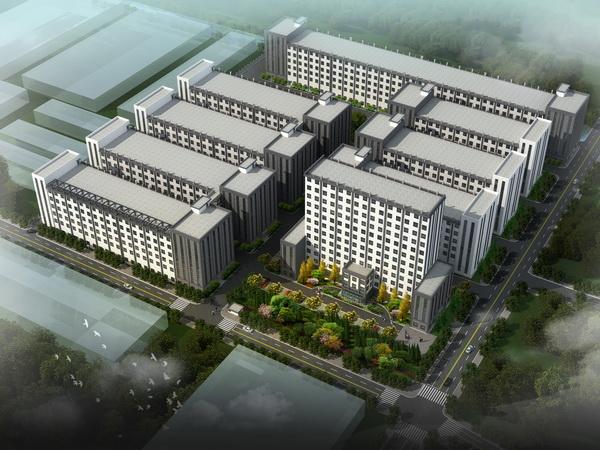 中信红木20万平方米新大楼鸟瞰图