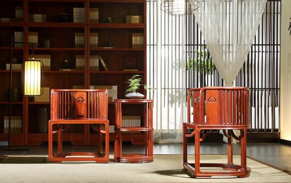东莞国寿红木新明式风格代表作《国寿椅》