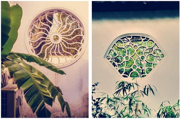 同心圆、扇形中国传统花窗