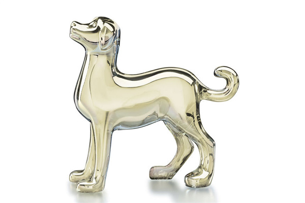 Baccarat犬形水晶雕塑