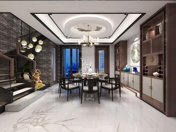 餐厅的软装设计与整体风格相得益彰
