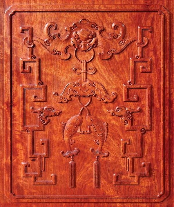 红木家具雕刻细节包含了许多吉祥寓意(国寿红木供图)