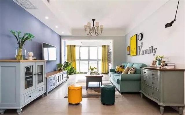 给家里增添点活力!现代美式风格设计get图片