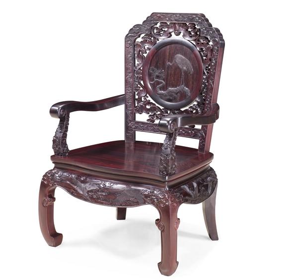 泰和园《松鹤延年茶台·配椅》