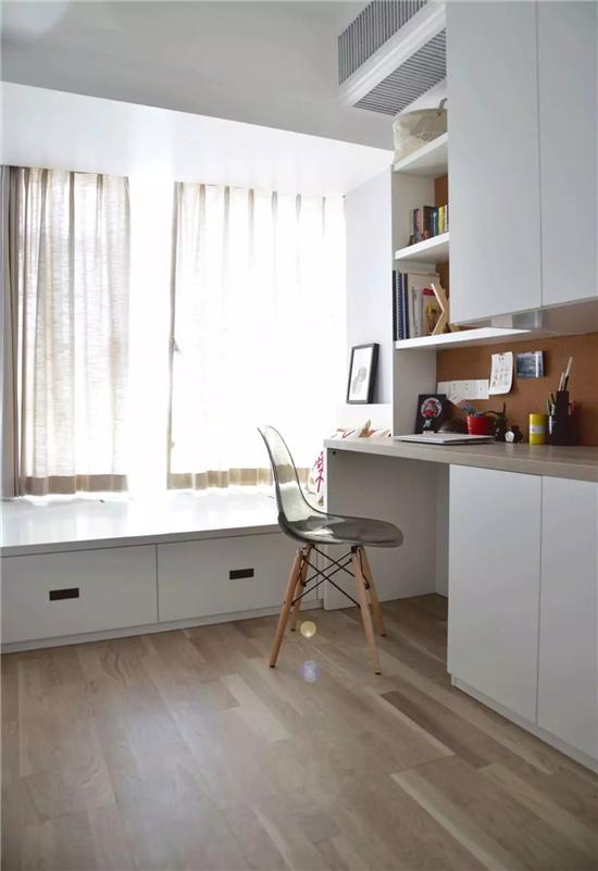 1㎡的空间都可以有大作用 比如,多一个小书房