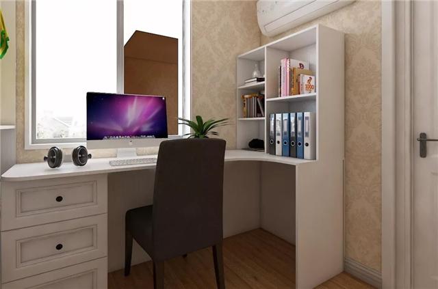 转角书房,为卧室空间增添书香气息-红木餐桌