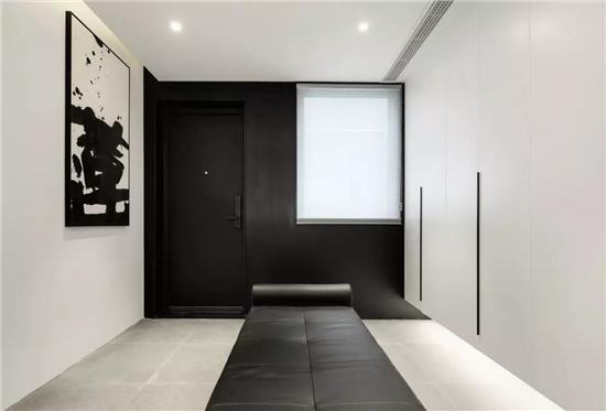 黑白色碰撞 空间尽显时尚与高雅-酸枝木