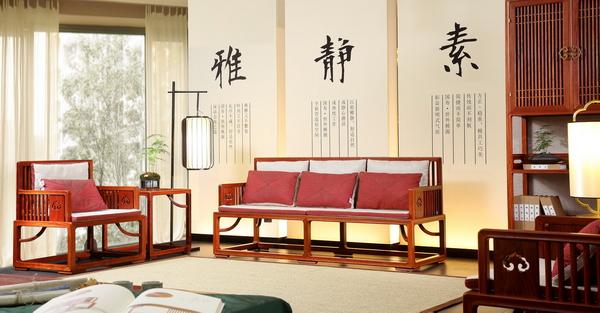 世外桃源·新明式红木家具,给人以家的坚固与安全感(明轩客厅系列)