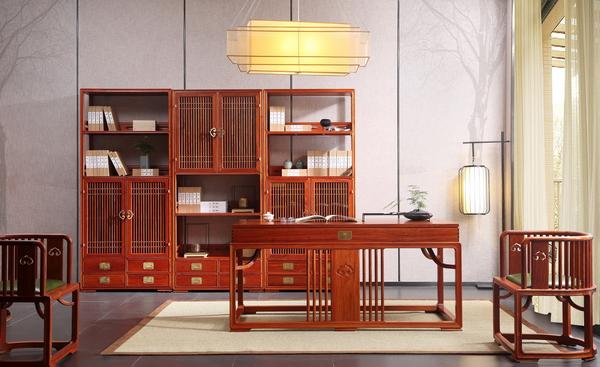 世外桃源·新明式红木家具,给人以家的随性与自然(明轩书房系列)