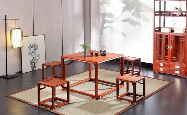 世外桃源·新明式红木家具,给人以家的精致与简单(明轩茶室系列)