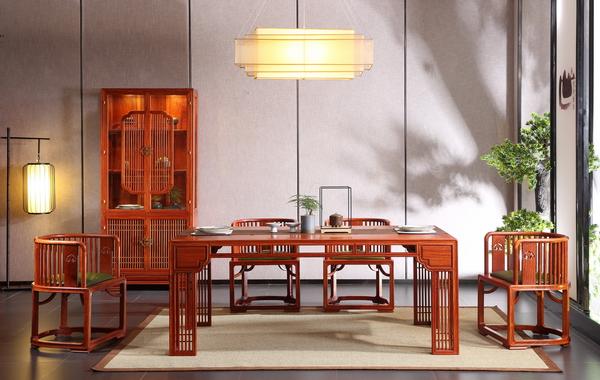 世外桃源·新明式红木家具,让人以家的安心与自我(君尚餐厅系列)