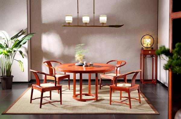 世外桃源·新明式红木家具,给人以家的自洽与慰藉(轩逸餐厅系列)