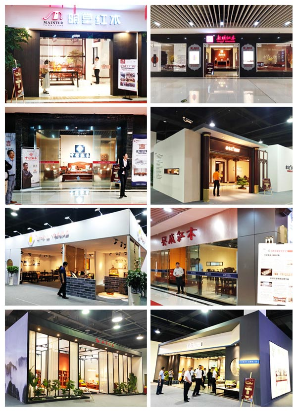 """首届中国红木家具展览会集结了东阳木雕红木家具龙头、骨干企业,展示了东阳红木所秉承的匠心与""""高品质""""的魅力"""
