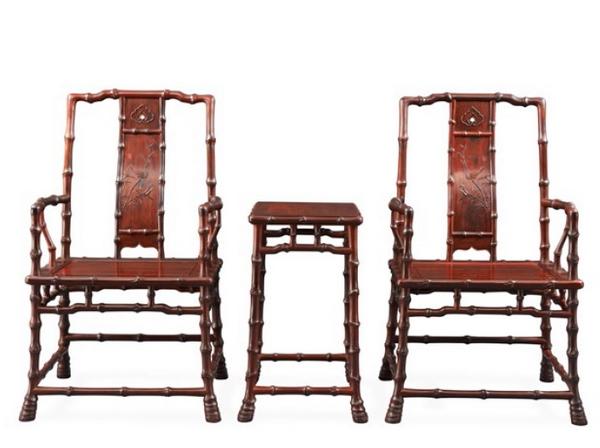 中国传统工艺大师邵湘文力作《当代君子竹节椅》