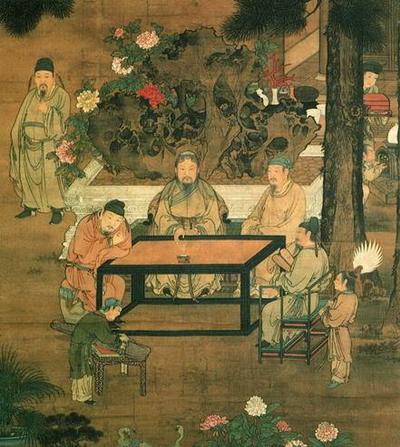 十八学士图与宋代文人雅致生活模式—琴、棋、书、画  、诗、酒、花、茶