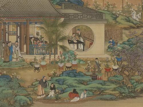 清  画十二月月令图(九月)