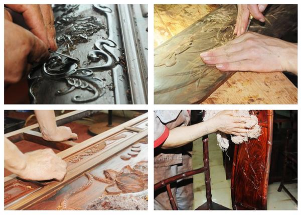 从选材、设计图纸到完成这一系列的流程中,御乾堂红木家具就有超过100道工序