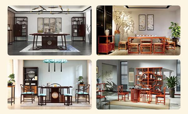 在中山红木产区可以找到很多生产精品茶台的企业