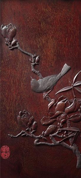 """梅兰竹菊家具的雕刻工艺主要采用了""""丝翎檀雕"""".jpg"""
