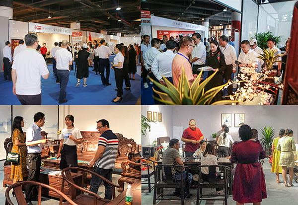2019中山红博会开幕式首日吸引大批红木客商到场观展和选品牌