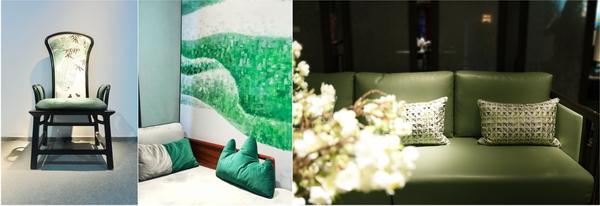 翡翠绿凸显优雅庄重气质的同时,也带来欣欣向荣的生命力