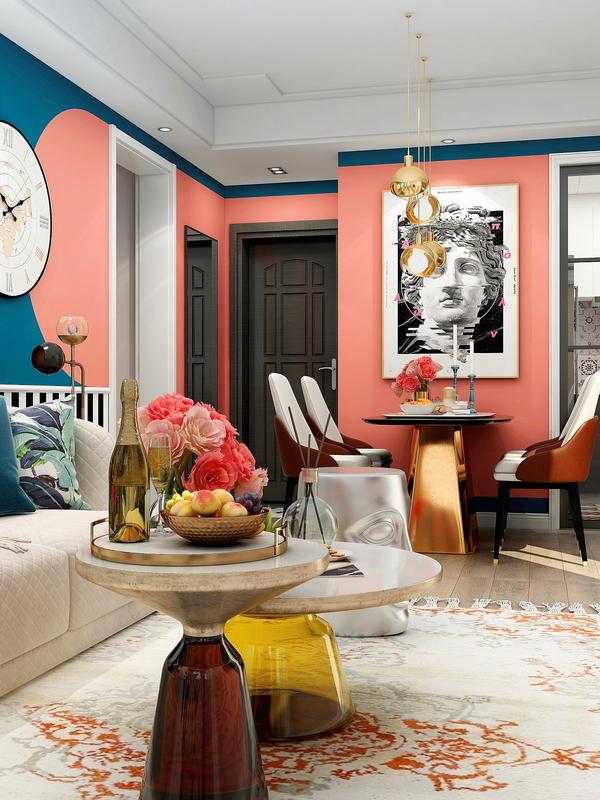 明亮、充满活力又有表现力的珊瑚橘可在娱乐室、客厅、厨房、餐厅等使用.jpg