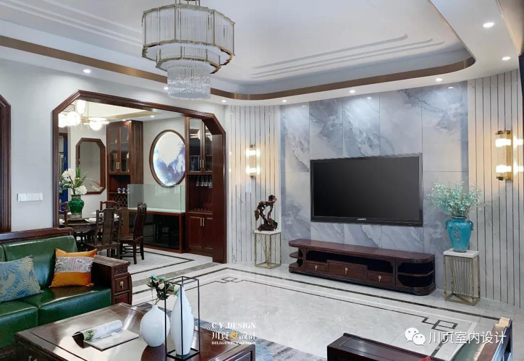 川页设计 | 一套房子三种格调,中式别墅为爱融合!