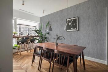 汇明a+墙布北欧风家居展示:色彩柔和淡雅,温暖舒适图片