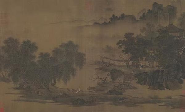 ▲  《四景山水图》-春景