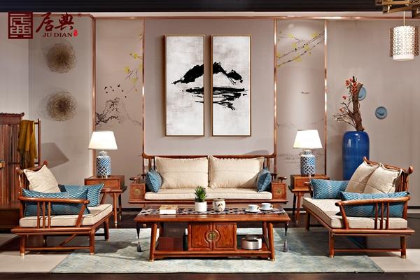 居典红木新中式《圆融沙发》,诠释现代时尚家居新理念