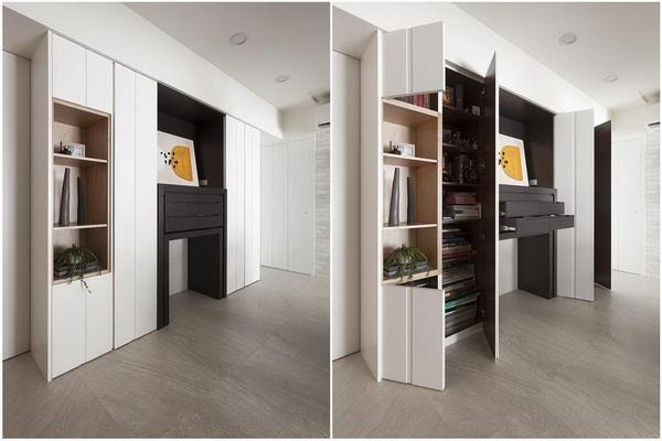 一个柜体便可以解决诸多的起居问题.jpg
